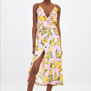 Zara Lemon Print Co-Ord Skirt Set